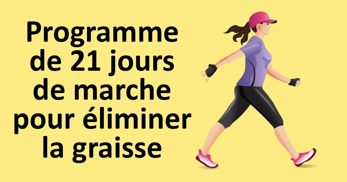 Programme de 21 jours de marche pour éliminer la graisse