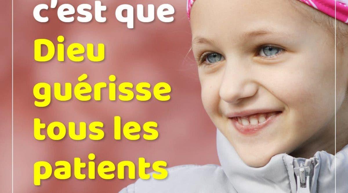 Que Dieu guérisse tous les patients de cancer