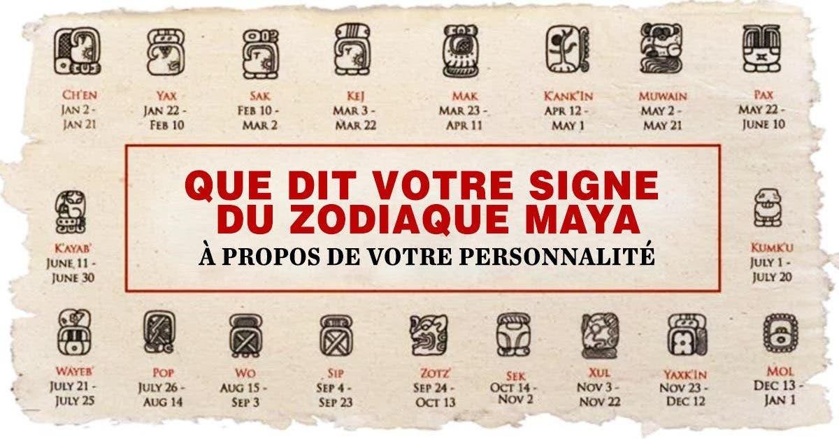 Que dit votre signe du Zodiaque Maya 1