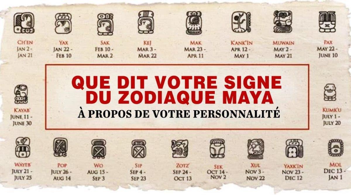 Calendrier Maya Signe.Voici Ce Que Dit Votre Signe Du Zodiaque Maya A Propos De