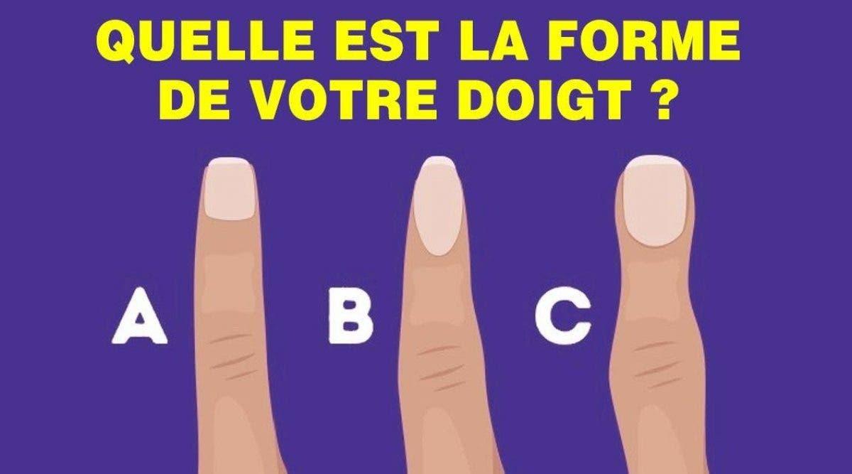 Voici ce que dit la forme de votre doigt sur votre personnalité