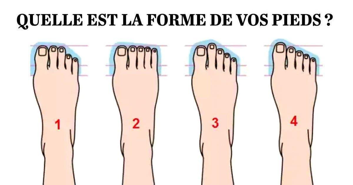 Quelle la forme de vos pieds