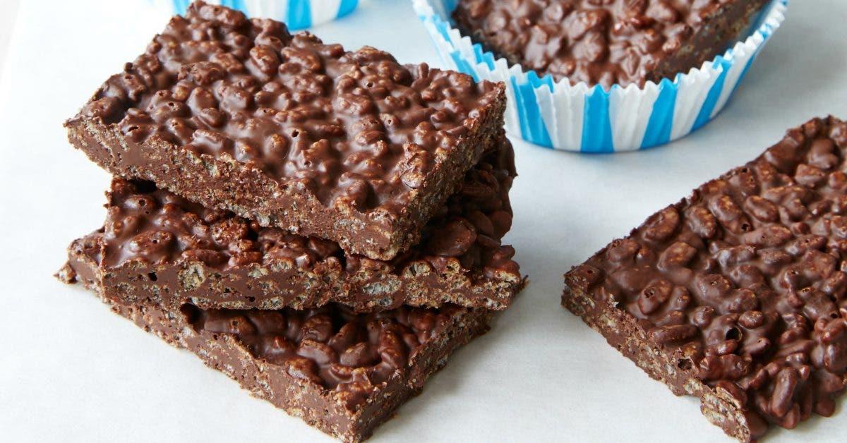 Recette Delicieuses barres croustillantes au chocolat sans sucre et bonnes pour la sante 1