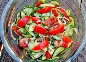 recette de salade dégonfle le ventre et permet de perdre du poids
