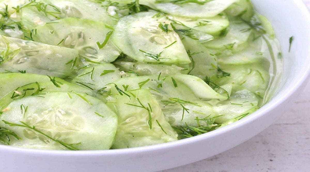 délicieuse salade au concombre citron
