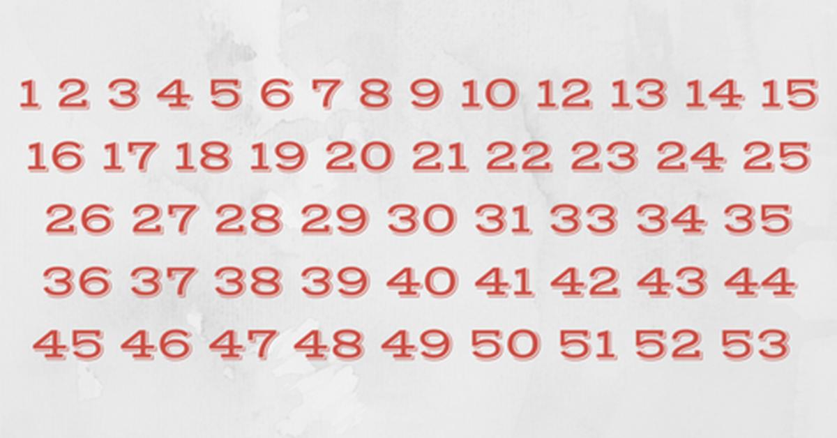 Seuls les plus malins dentre vous peuvent trouver les chiffres manquants 1