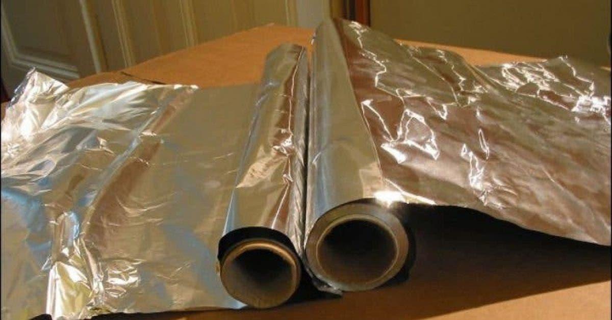 Si vous utilisez du papier aluminium