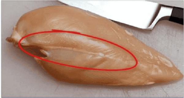 Si vous voyez ces lignes blanches sur la viande du poulet