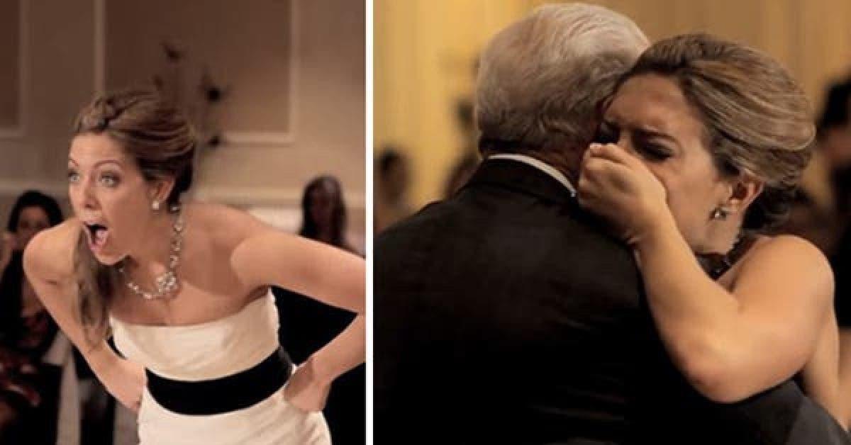 Son père décède avant le mariage, alors une voix dans l'église lui demande de se retourner