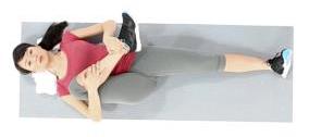 6.Etirement du fessier en position allongée