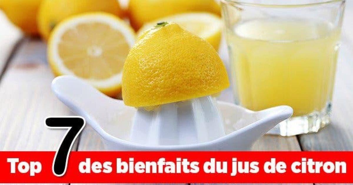 Top 7 des bienfaits du jus de citron11