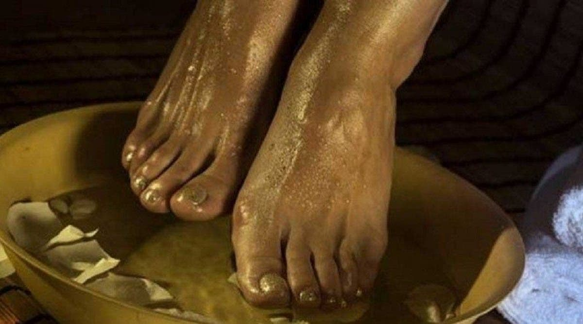 pieds bain