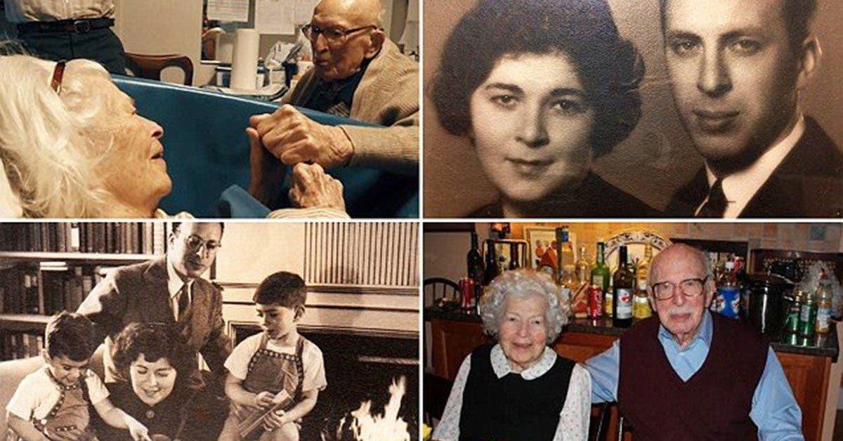 Un grand père de 105 ans dit je t'aime à sa femme de 100 ans dans une émouvante vidéo