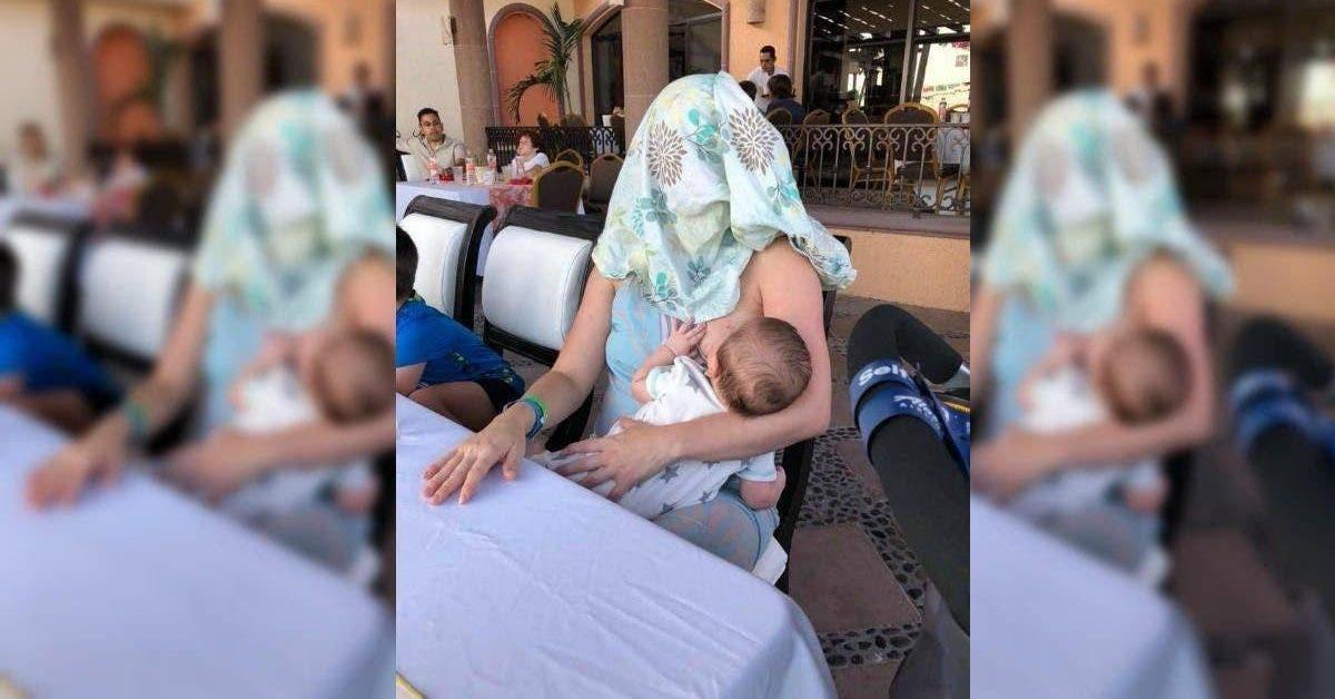 Un homme demande à une mère qui allaite de se couvrir et elle lui donne une bonne leçon