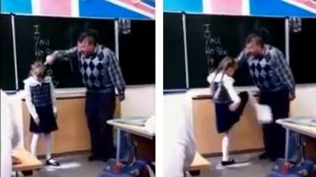 Un professeur tyrannique frappe une fille de 8 ans devant ses camarades de classe