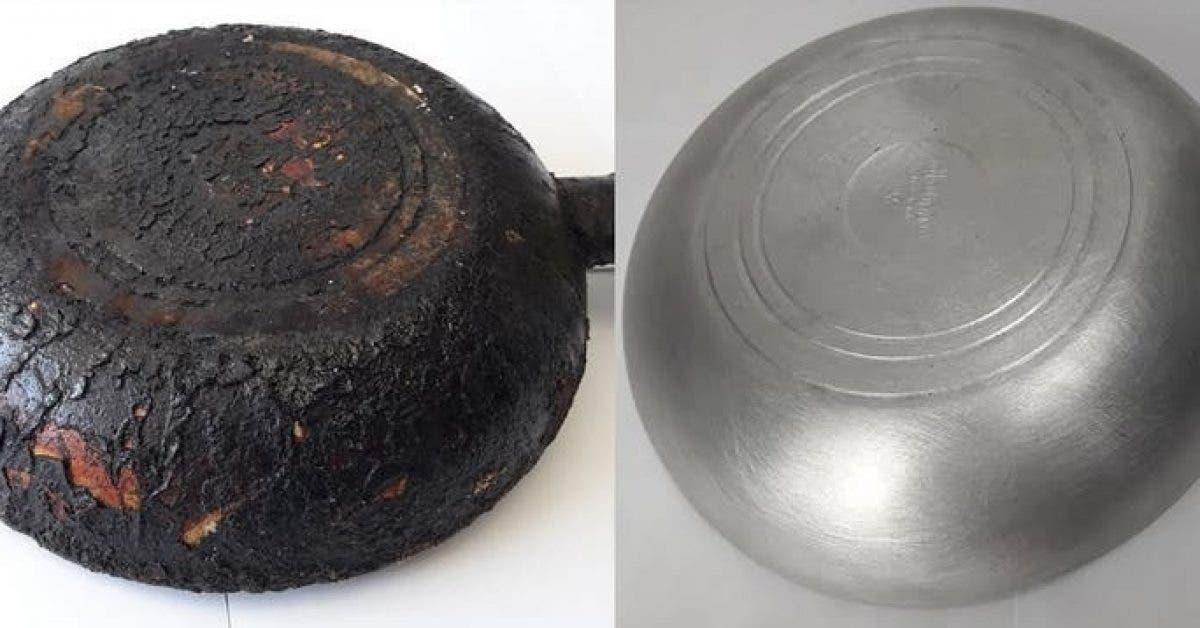 Une astuce facile pour enlever rapidement et facilement la vieille graisse des casseroles et poeles 1