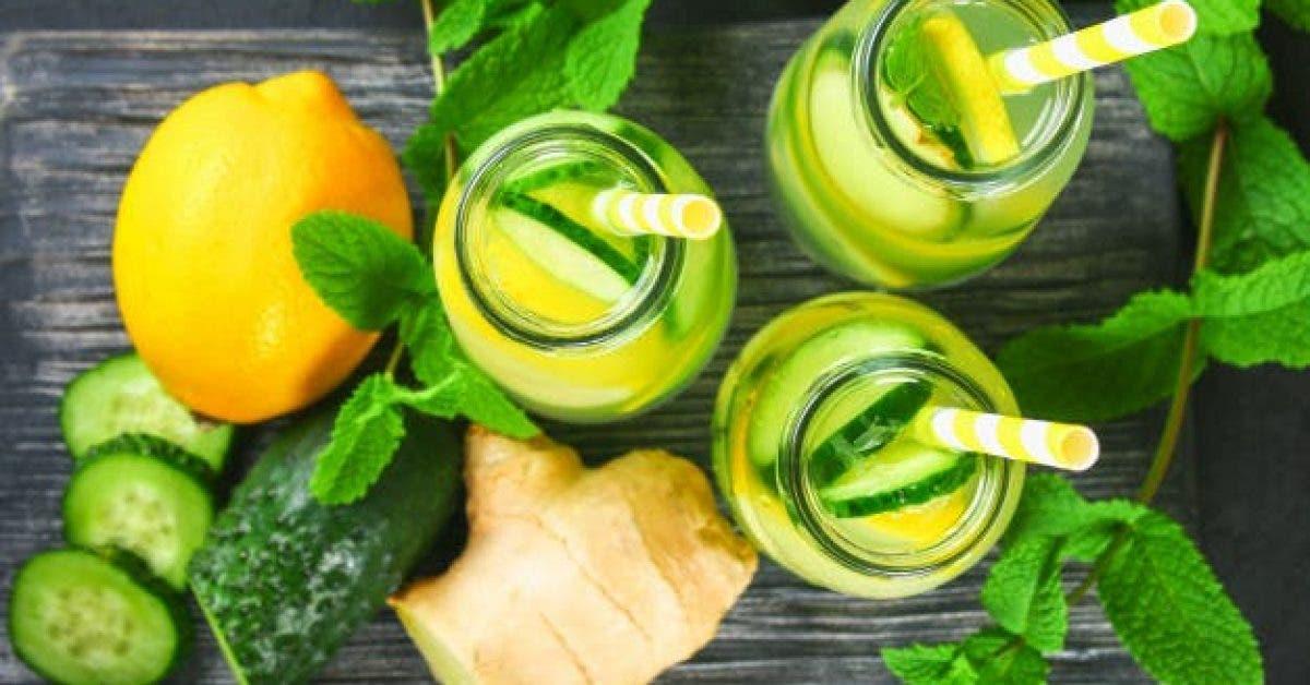 Une boisson au citron et au gingembre a boire avant daller au lit pour eliminer les graisses abdominales et nettoyer le foie 1