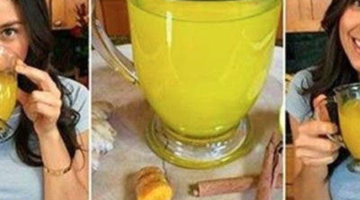 Une boisson miracle pour éliminer la graisse accumulée au niveau de votre ventre et réduire les ballonnements