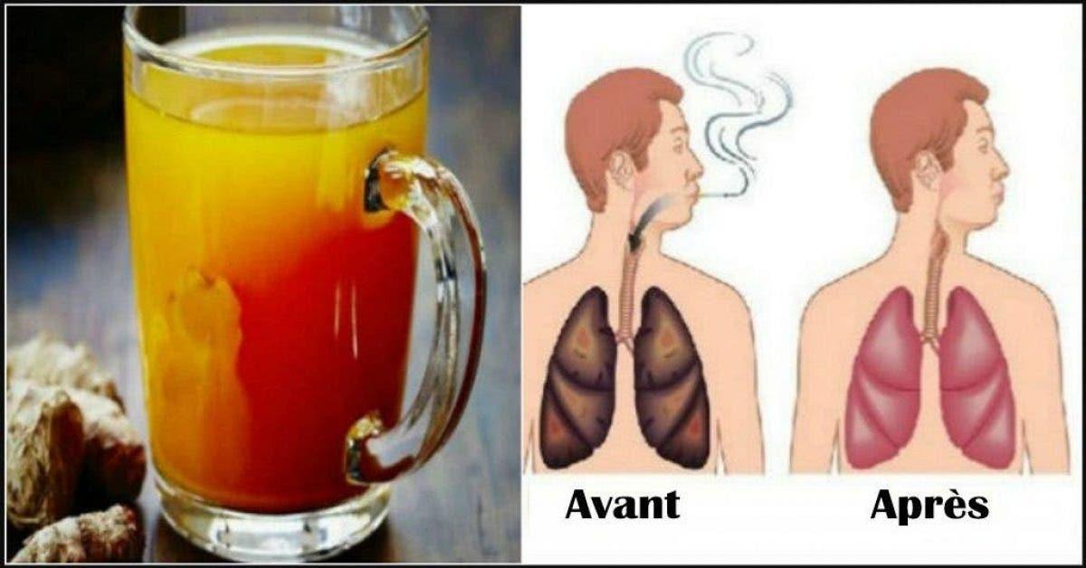 Une boisson naturelle pour nettoyer les poumons des fumeurs