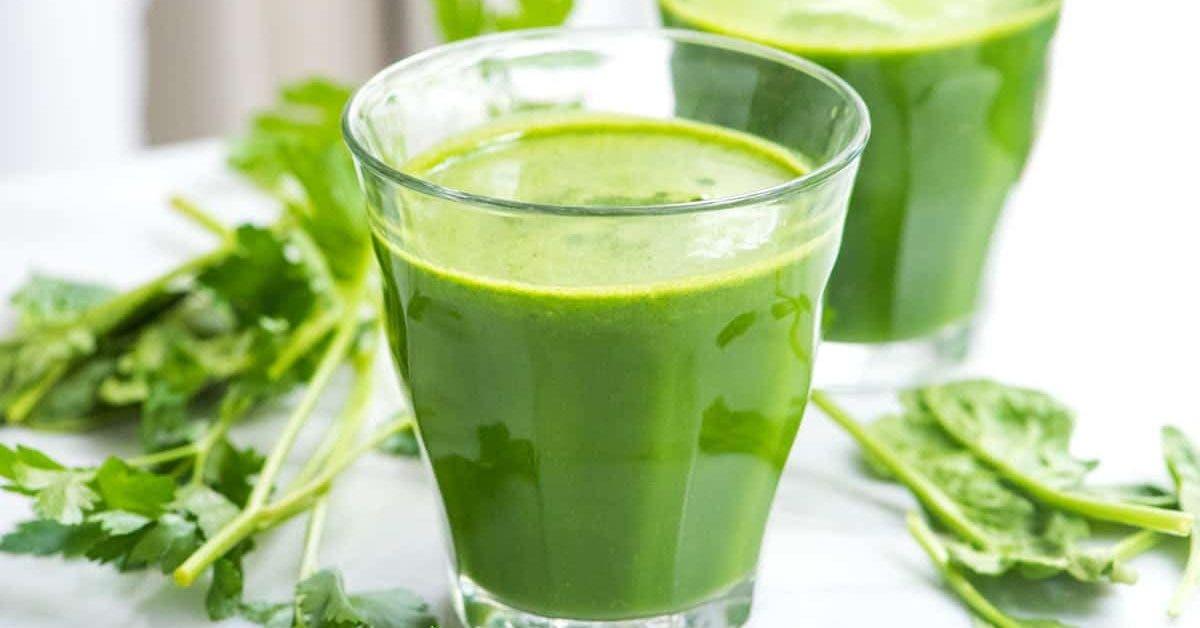 Une boisson verte qui aide à éliminer du poids lorsque vous faites un régime
