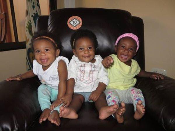 Une femme accouche de 3 enfants noirs