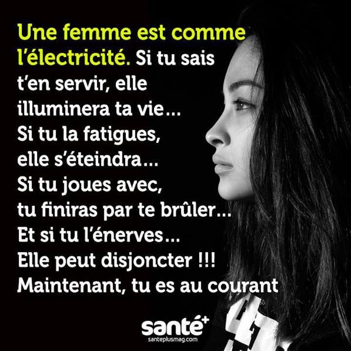 Une femme c'est comme l'électricité