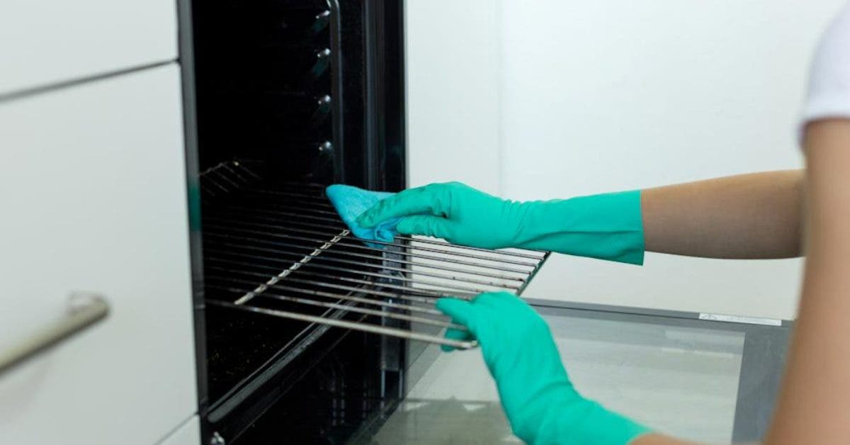 Une femme partage une astuce facile de liquide vaisselle congelé pour nettoyer les grilles du four sans tracas