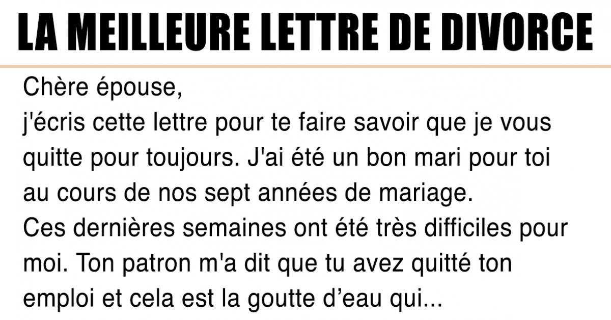Une femme reçoit la meilleur lettre de divorce de son mari qui l'a trompé avec sa soeur