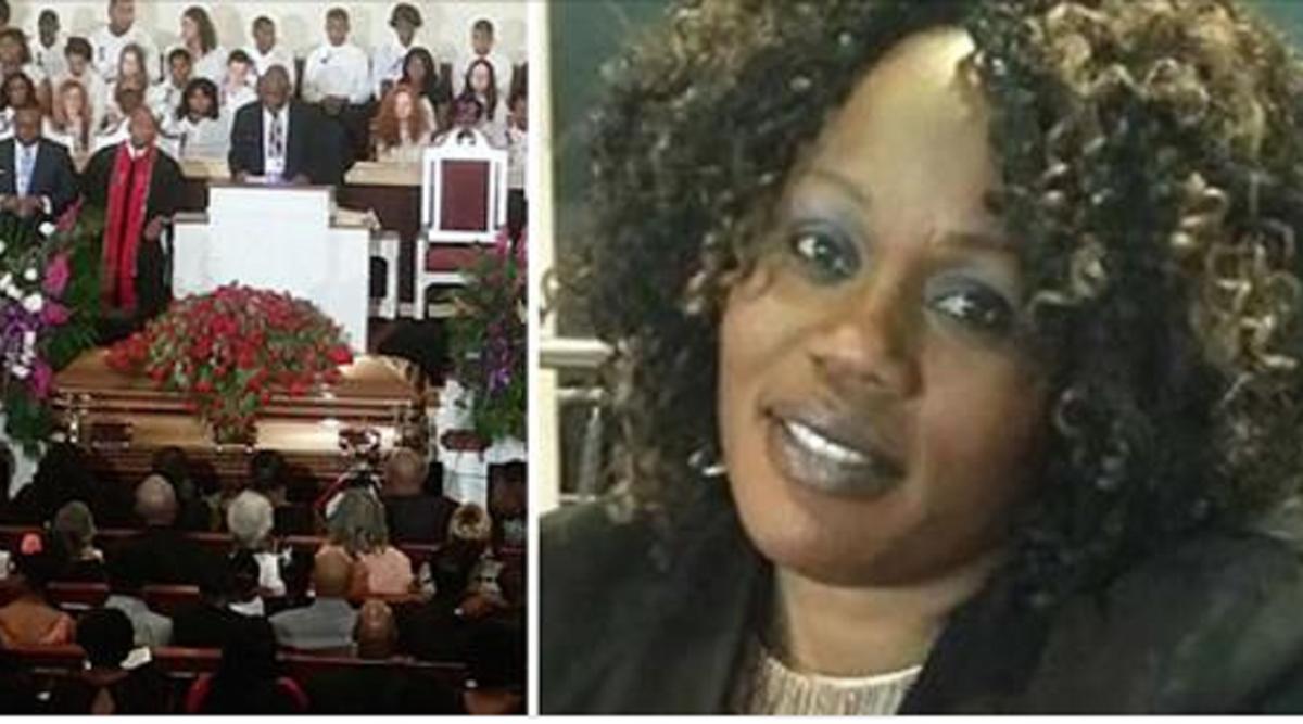 Une femme se présente à ses propres funérailles