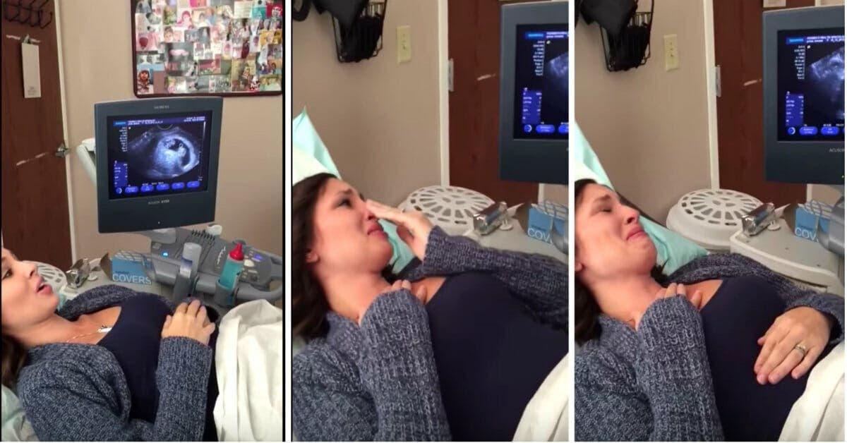 Une mère enceinte ne croit pas ses yeux quand elle voit l'échographie