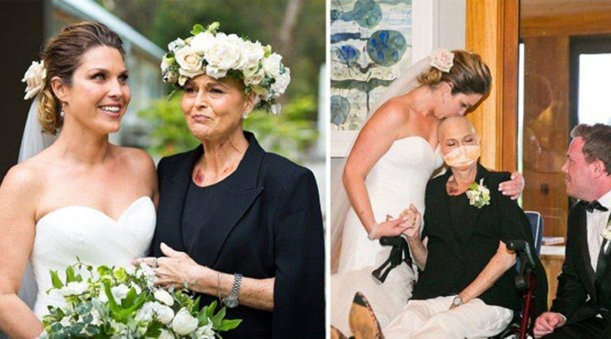 Une mere mourante a decide de profiter de son dernier jour avant daller a lhopital pour assister au mariage de sa fille.