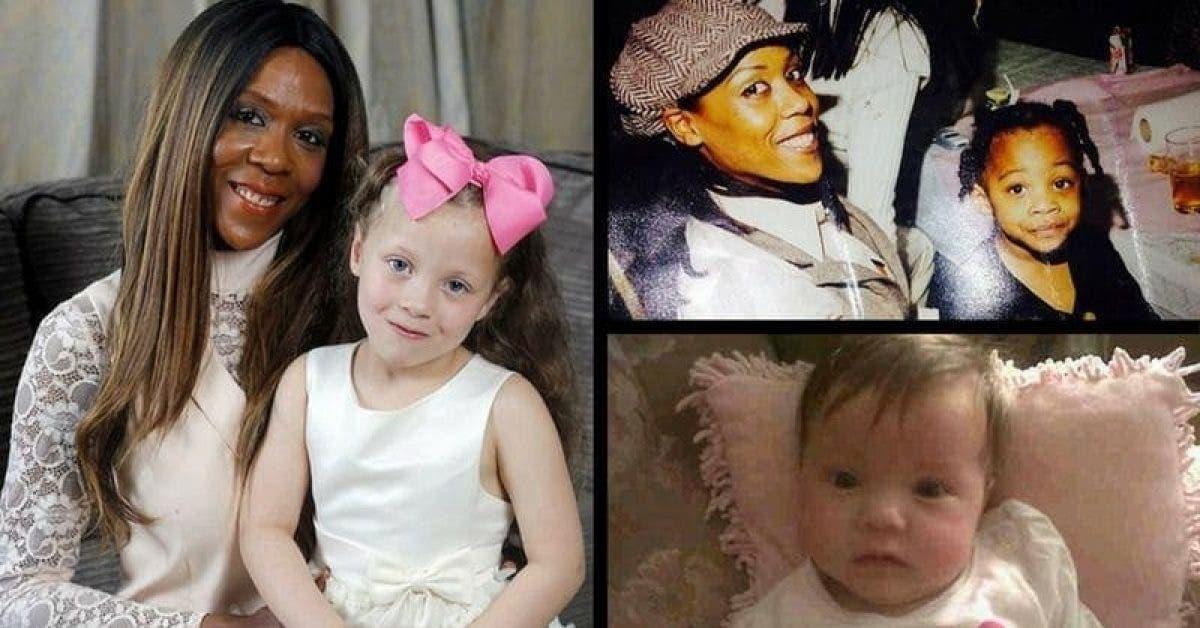 Une mère noire donne naissance à un bébé blanc avec des yeux bleus