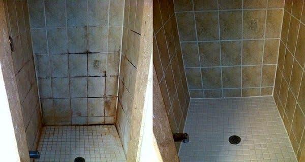 utilisez cette astuce simple pour nettoyer votre salle de bain elle est dix fois plus efficace. Black Bedroom Furniture Sets. Home Design Ideas
