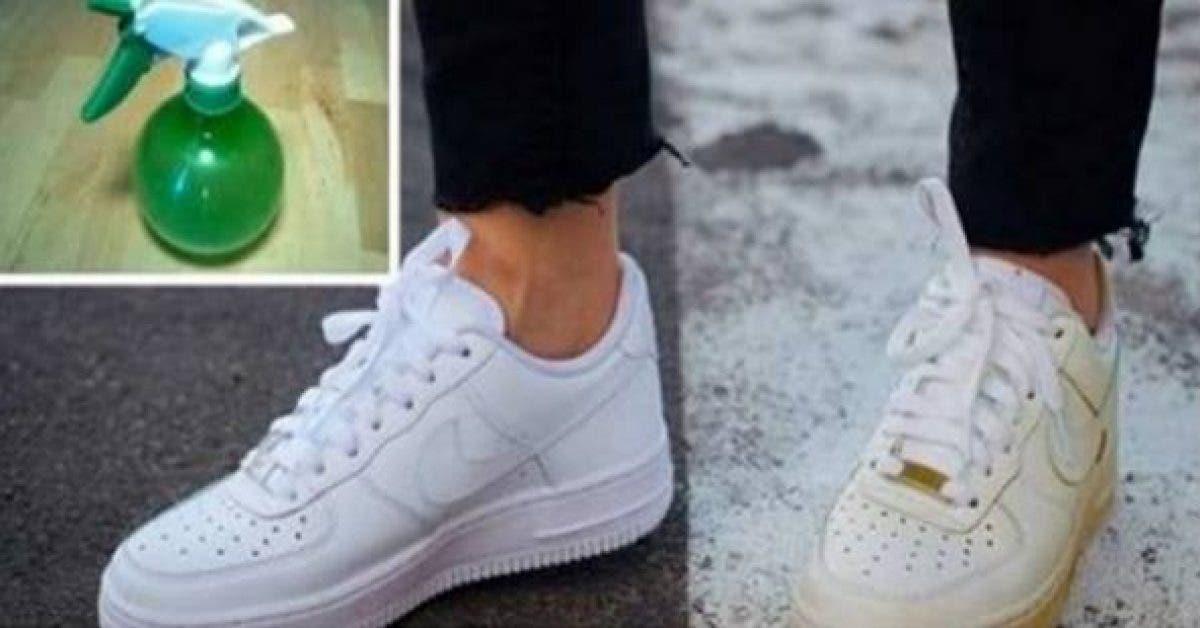 Utilisez cette simple astuce pour nettoyer vos chaussures sales et leur rendre leur blancheur 1