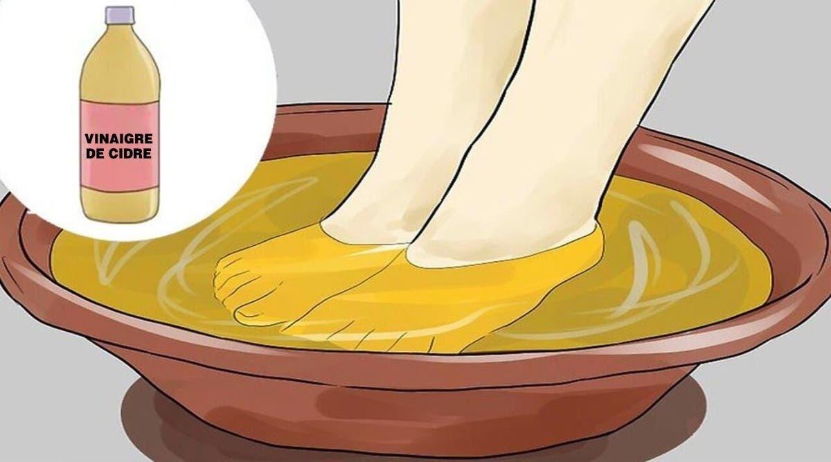 il faudrait trempez vos pieds dans du vinaigre une fois par semaine pour soigner de nombreuses maladies