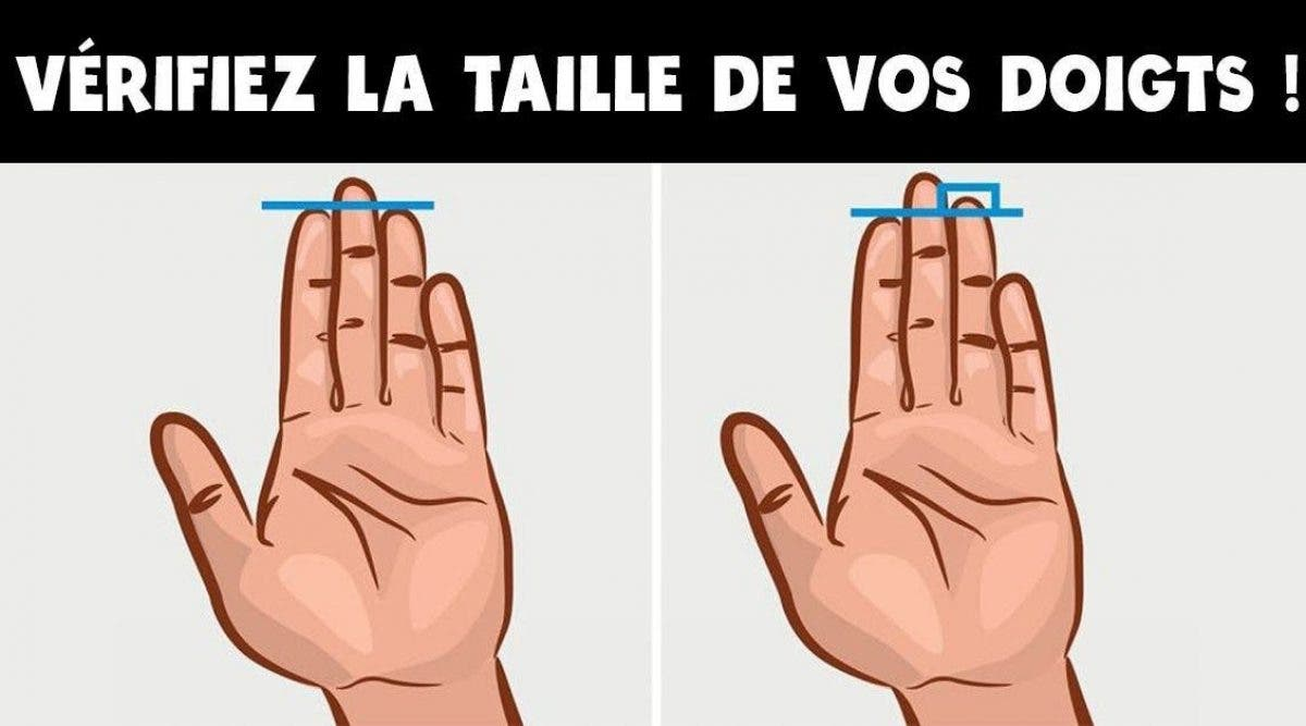 choses que la longueur de vos doigts dit de votre personnalité