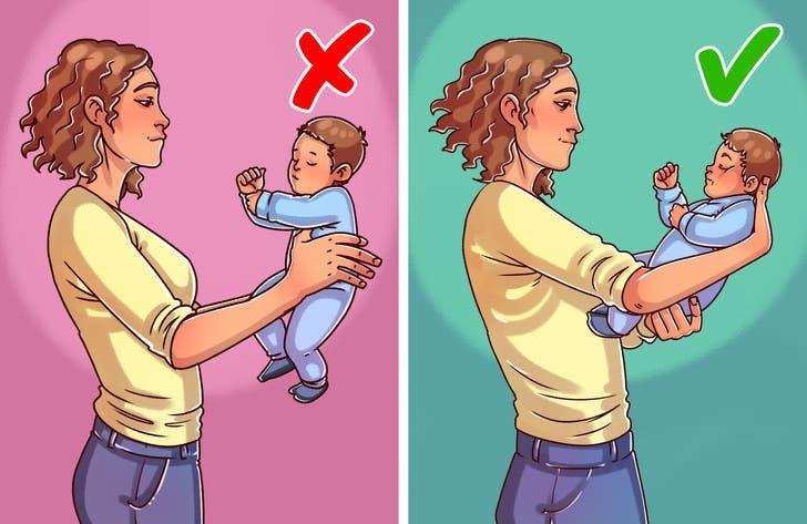façons courantes de tenir un enfant