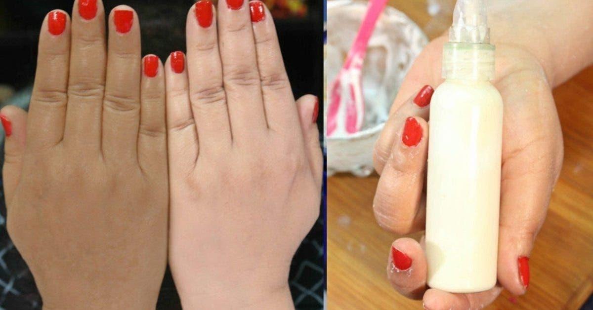 Voici comment éclaircir vos mains facilement à la maison !