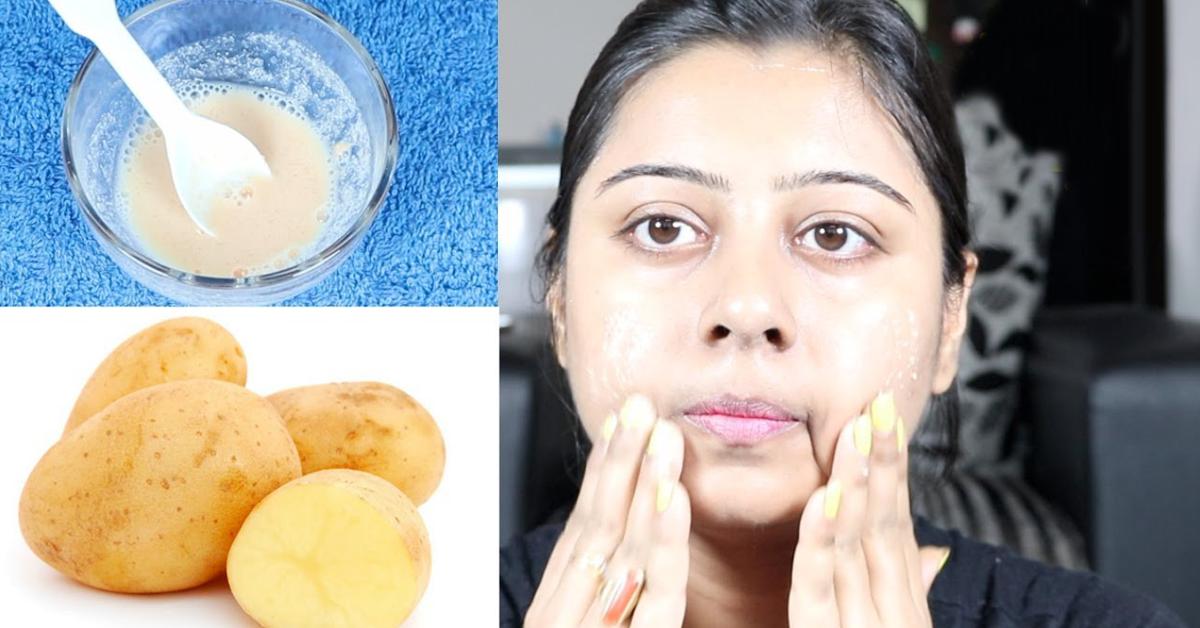 Voici comment j'éclaircis mon visage avec de la pomme de terre