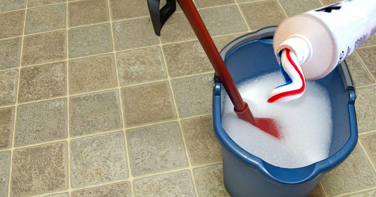 Voici comment nettoyer le sol avec du dentifrice pour le rendre propre et brillant