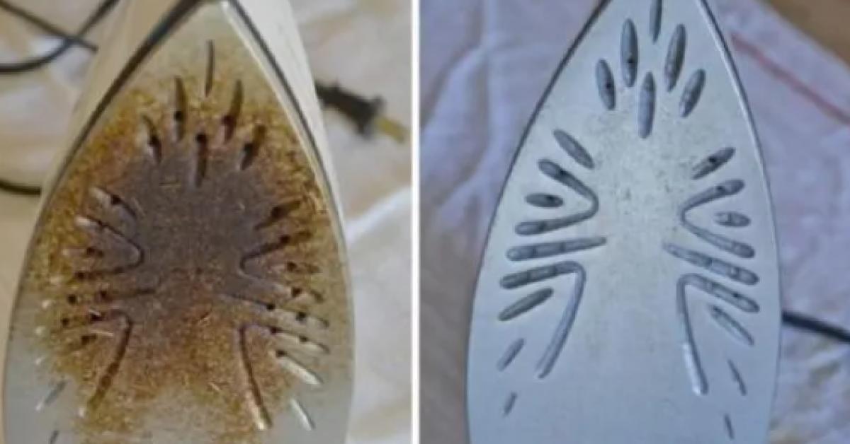 Voici comment nettoyer votre fer a repasser brule et le rendre comme neuf 1