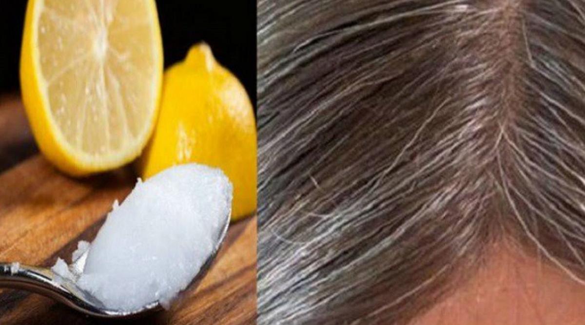 Voici comment utiliser le citron et l'huile de coco pour retarder l'apparition des cheveux gris
