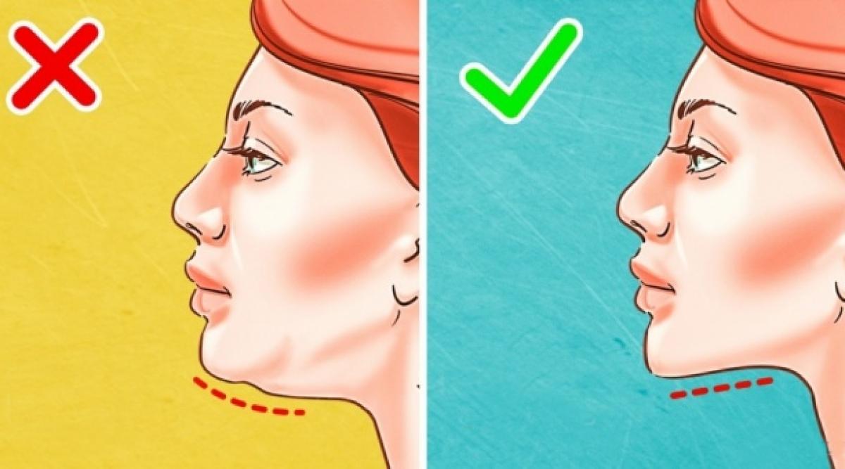 Voici comment vous débarrasser d'un double menton en quelques semaines