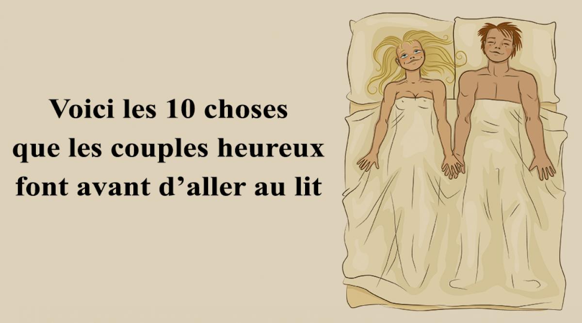 les couples heureux font avant d'aller au lit