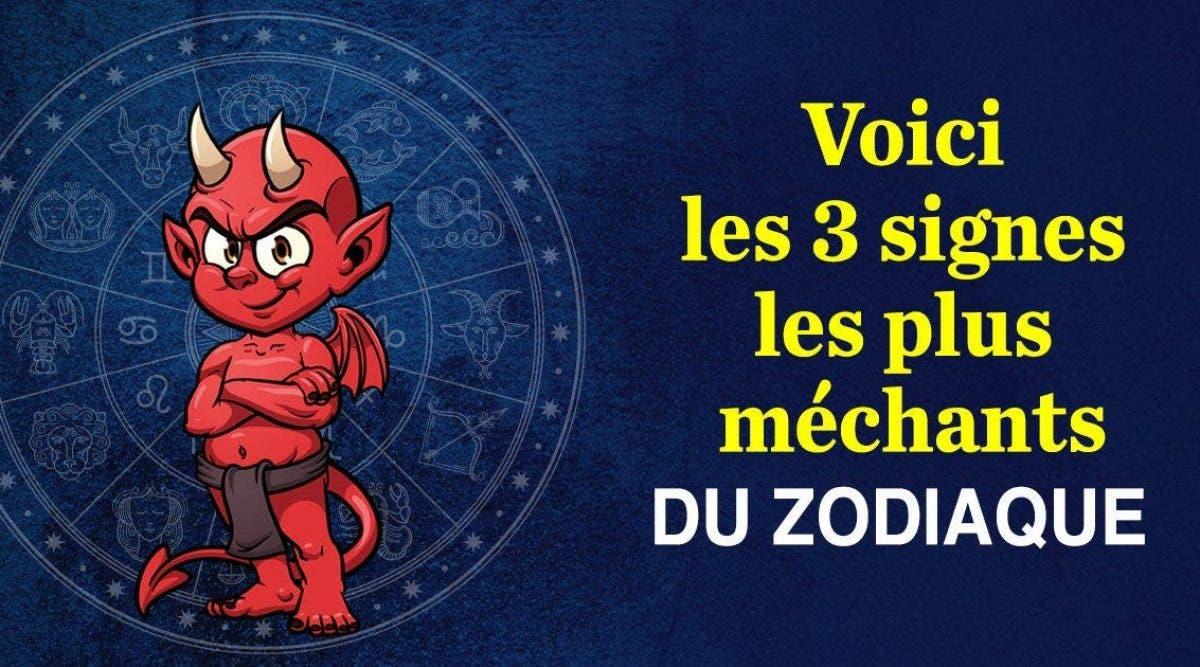 voici les 3 signes les plus méchants du zodiaque
