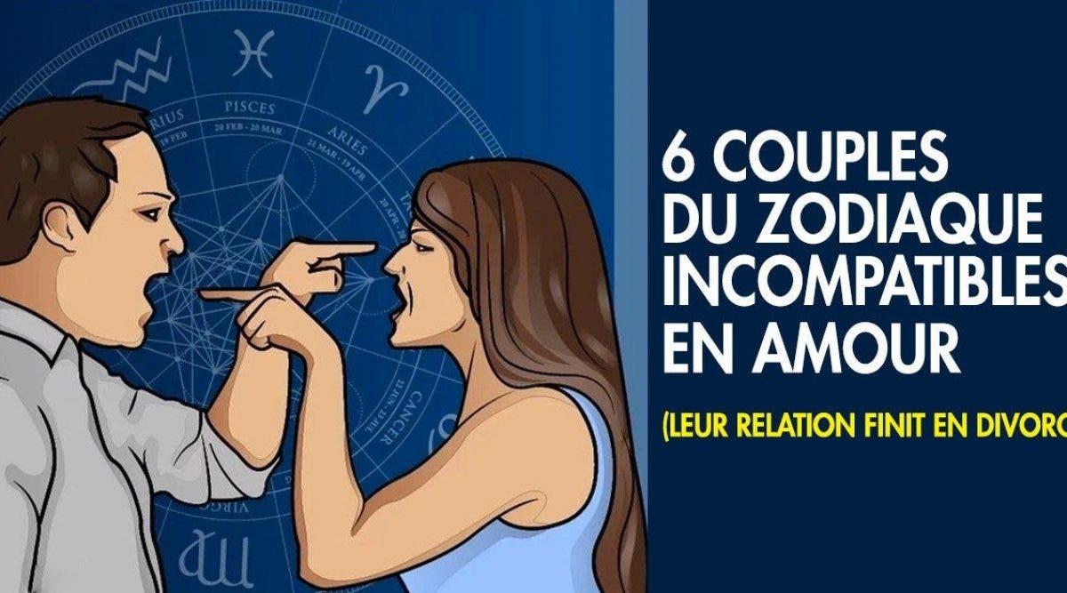 Voici les signes du zodiaque incompatibles pour être en couple