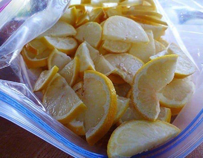 la congélation des citrons