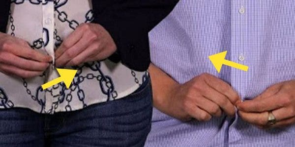 Voici pourquoi le boutonnage des chemises hommes/femmes est inversé