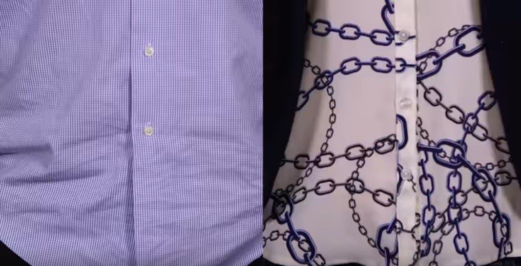 Voici pourquoi le boutonnage des chemises hommes femmes est inverse