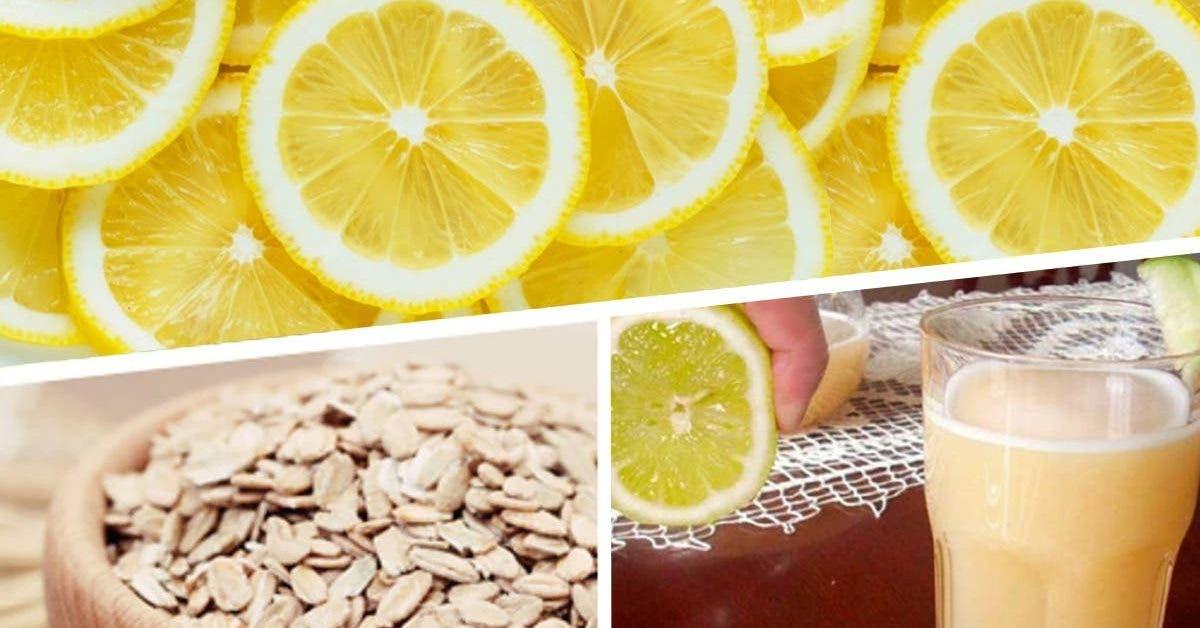 boisson à l'avoine et au citron